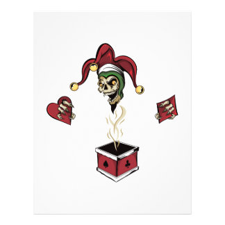 Poker Box Joker Zombie Skull Flyer