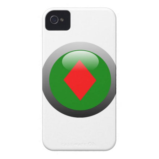 Poker Button - Diamond iPhone 4 Covers