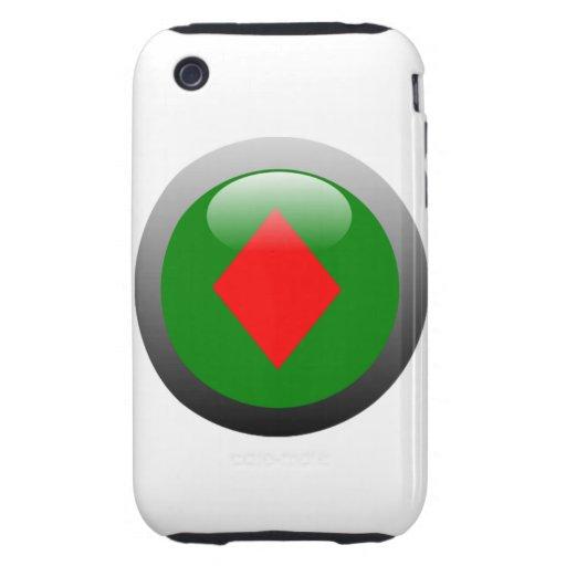 Poker Button - Diamond Tough iPhone 3 Cases