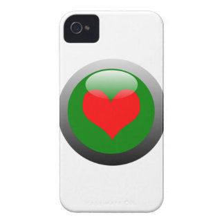Poker Button Symbol - Heart Case-Mate iPhone 4 Case