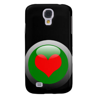 Poker Button Symbol - Heart Galaxy S4 Covers