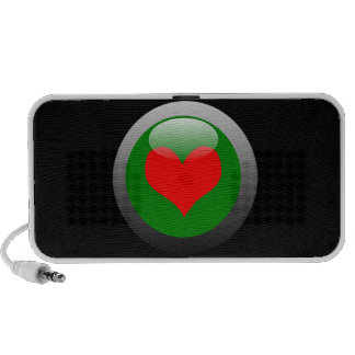 Poker Button Symbol - Heart Travelling Speakers
