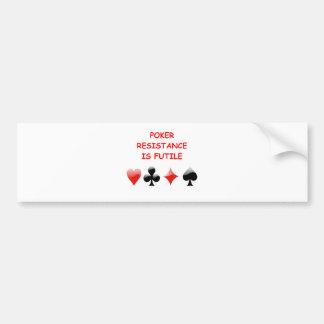 póker pegatina para auto
