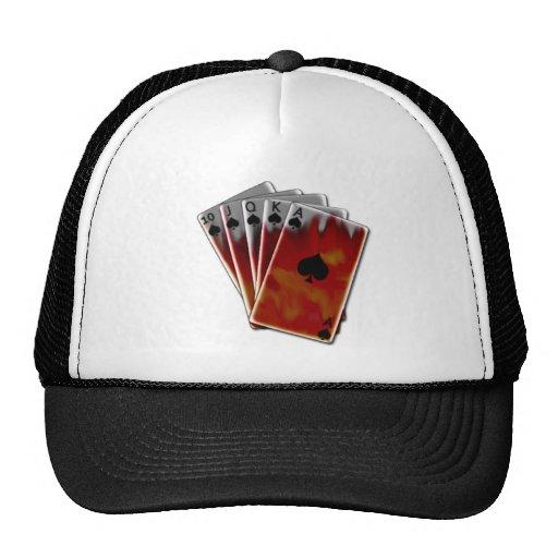 Póker caliente de la mano gorros