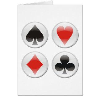 Poker card icons on white