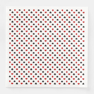 Poker Card Pattern | Clubs Diamonds Hearts Spades Paper Dinner Napkin