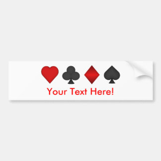Poker: Card Suits: Bumper Sticker: Black Jack Bumper Sticker