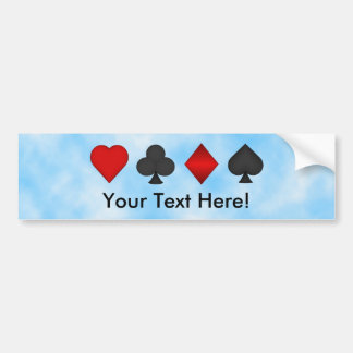Poker: Card Suits: Bumper Sticker: Black Jack Bumper Sticker