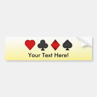 Poker: Card Suits: Bumper Sticker: Black Jack Car Bumper Sticker