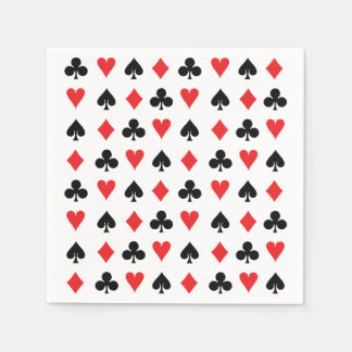 Poker Card Suits Napkin