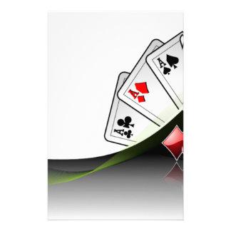 Poker cards and casino symbols