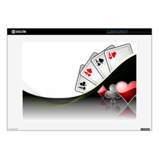 "Poker cards and casino symbols decal for 15"" laptop"