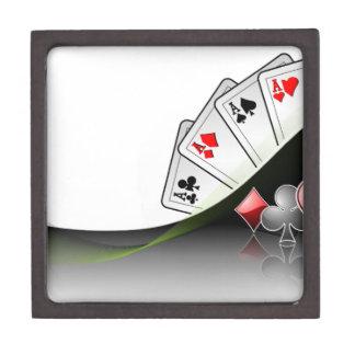 Poker cards and casino symbols keepsake box
