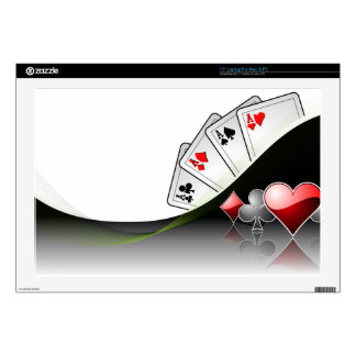 Poker cards and casino symbols laptop decal