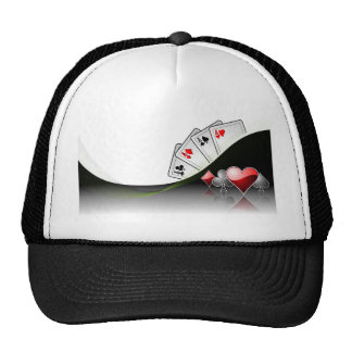 Poker cards and casino symbols trucker hat