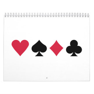 Poker cards calendar