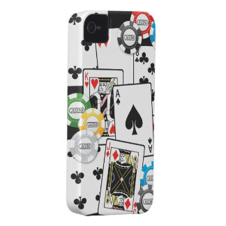 POKER CARDS CHIPS iPhone 4 COVER
