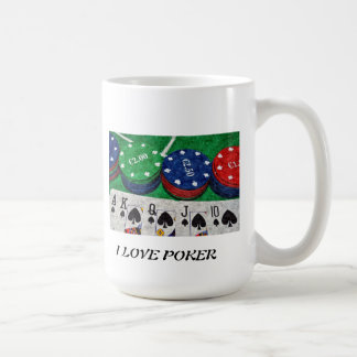 POKER CARDS COFFEE MUG