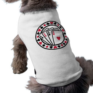 Poker cards dog clothes