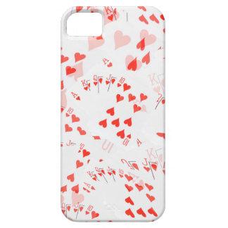 Poker Cards Hearts Straight Flush Pattern, iPhone SE/5/5s Case