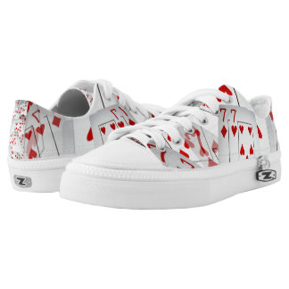 Poker Cards, Lucky Sevens, Unisex Zipz Sneakers