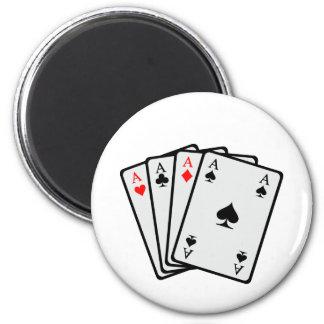 Poker cards magnet