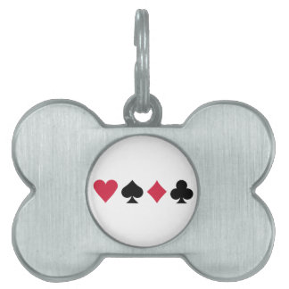 Poker cards pet tags