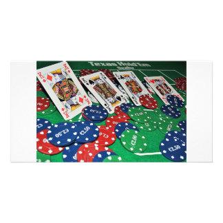 POKER CARDS PHOTOS CUSTOMISED PHOTO CARD