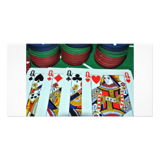 POKER CARDS PHOTOS PERSONALIZED PHOTO CARD