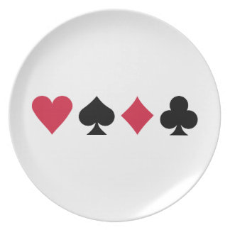 Poker cards plate