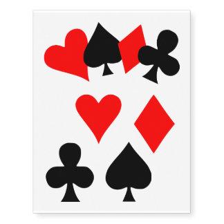 Poker cards seeds temporary tattoos