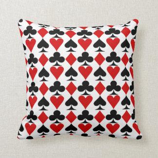poker cards symbols pattern,poker throw pillow