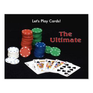 "Poker Cards Ultimate 4.25"" X 5.5"" Invitation Card"