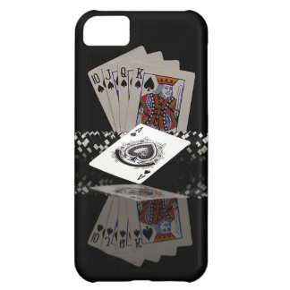 Poker cards with chips cover for iPhone 5C