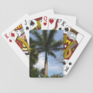 Poker Cards with Palm Tree Design