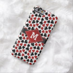 Poker Casino Suit Pattern Monogram Barely There iPhone 6 Case