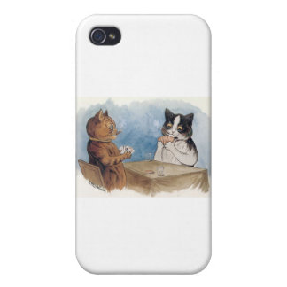 Poker Cats Artwork by Louis Wain iPhone 4/4S Cases