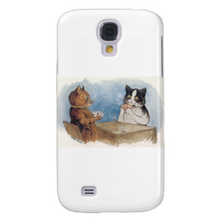 Poker Cats Artwork by Louis Wain Samsung Galaxy S4 Cover