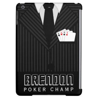 Poker Champ Casino Pinstripe Suit iPad Air Case