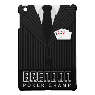 Poker Champ Casino Pinstripe Suit iPad Mini Cases