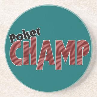 Poker Champ Champion Coaster