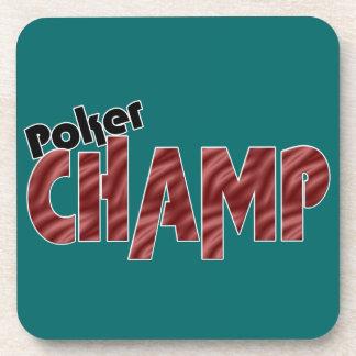 Poker Champ Champion Cork Coasters