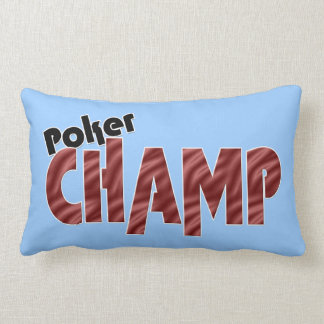 Poker Champ Champion Pillow