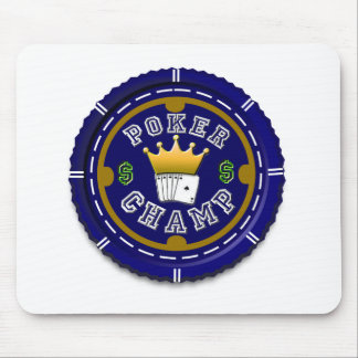 Poker Champ Customized Gifts Mouse Pad