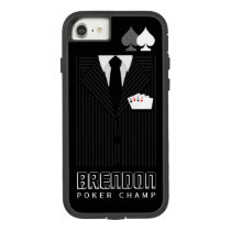 Poker Champ Pinstripe Suit Casino Case-Mate Tough Extreme iPhone 8/7 Case
