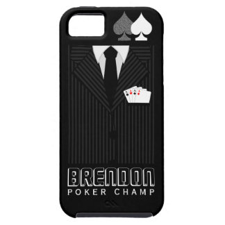 Poker Champ Pinstripe Suit Casino iPhone 5 5S Case iPhone 5 Cover