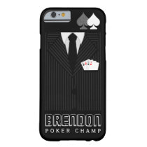 Poker Champ Pinstripe Suit Casino iPhone 6 6S Case