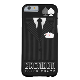 Poker Champ Pinstripe Suit Casino iPhone 6 6S Case Barely There iPhone 6 Case