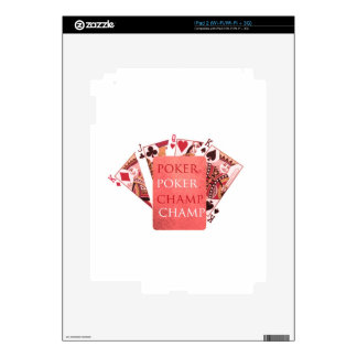 POKER Champion -  Art101 Collection Decal For iPad 2