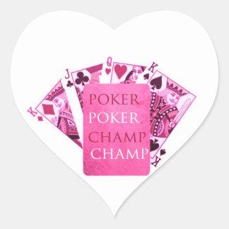 POKER Champion -  Art101 Collection Heart Sticker